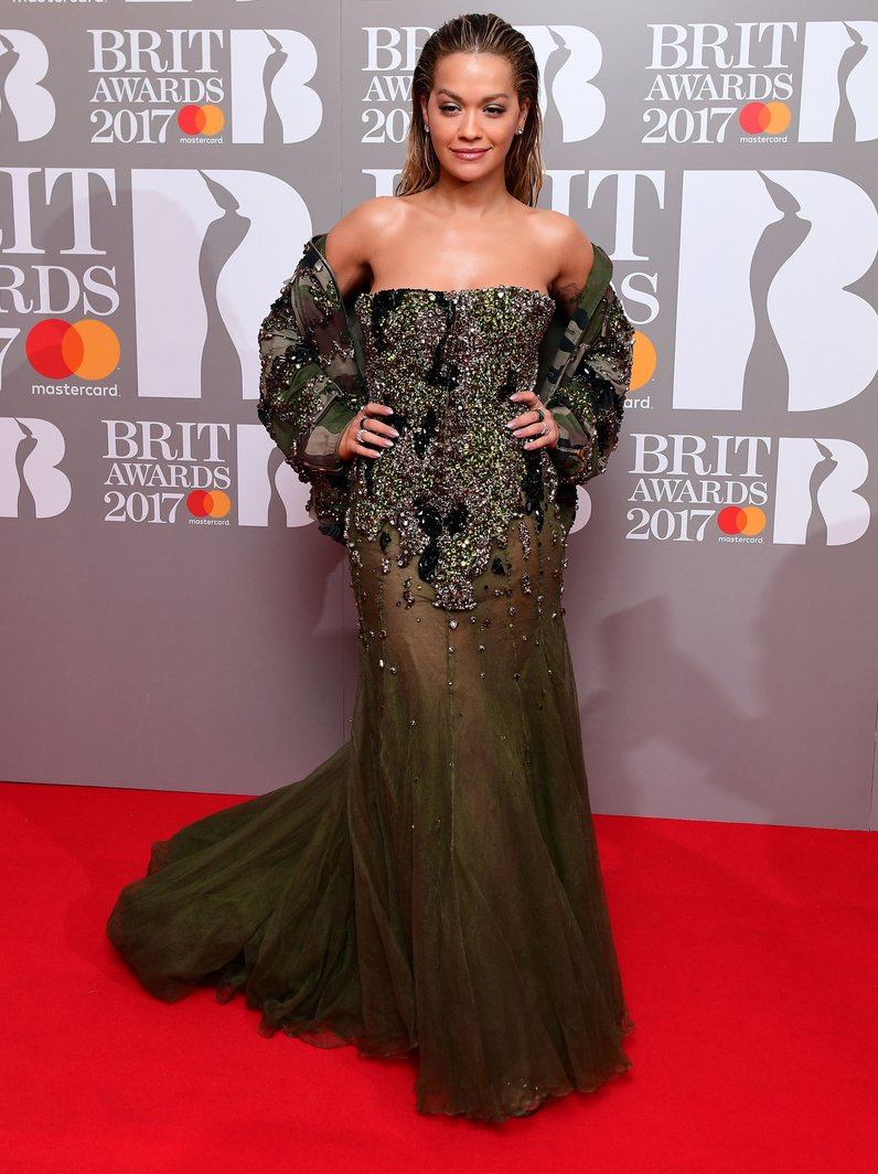 Rita Ora BRITs 2017 Red Carpet Arrivals
