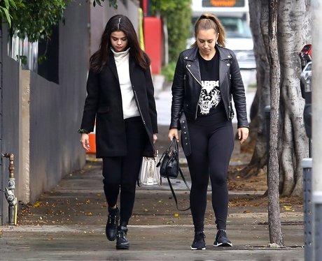 Selena Gomez with friend seen wearing The Weeknd t