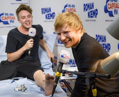 Ed Sheeran tattoos Roman Kemp live on air