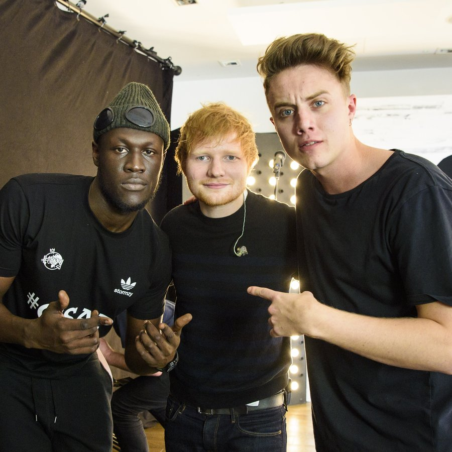 Stormzy, Ed Sheeran and Roman Kemp