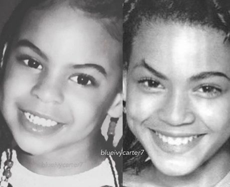 Blue Ivy and Beyonce look identical at a young age