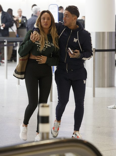 Charlotte Crosby and Stephen Bear at Gatwick airpo