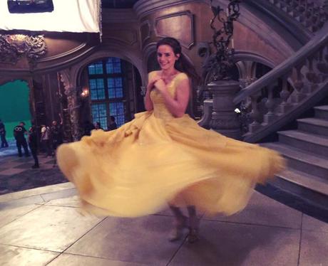 Emma Watson in her yellow dress for Belle