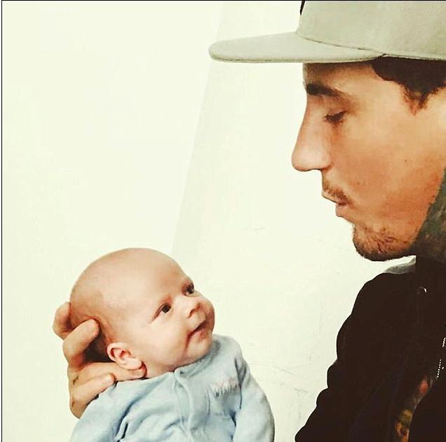 Jeremy McConnell Cradles baby Caben Albi