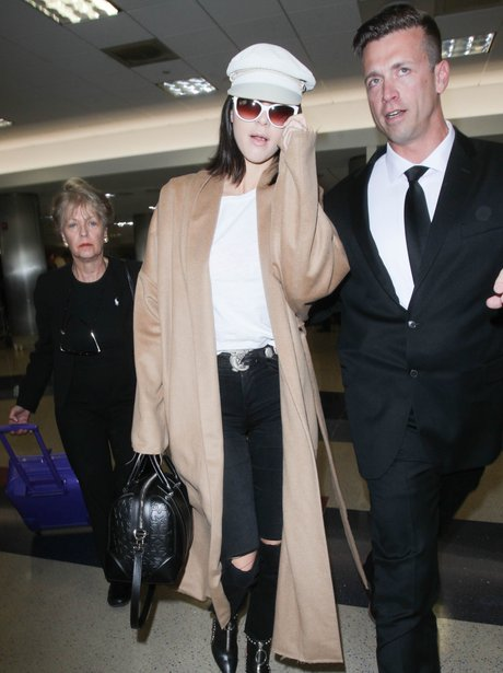 Kendall Jenner makes her way through the airport
