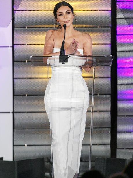 Kim Kardashian presents an award