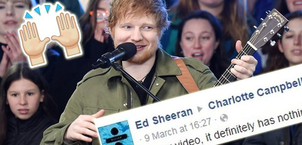 Ill get it sorted ed sheeran takes on facebook after they delete ed sheeran ccuart Gallery