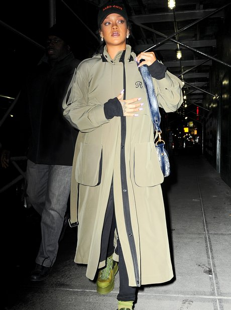 Rihanna attempts to go incognito in a cap and tren
