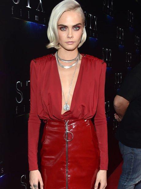 Cara Delavingne's new blonde look
