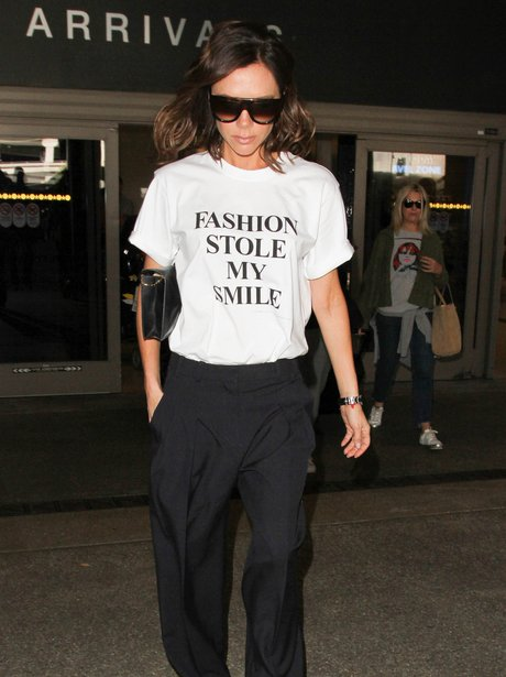 Victoria Beckham Slogan T Shirt