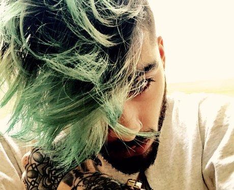 ZAYN Green Hair