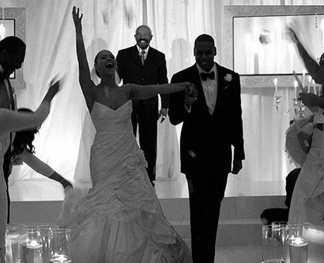 Beyonce and Jay-Z wedding day