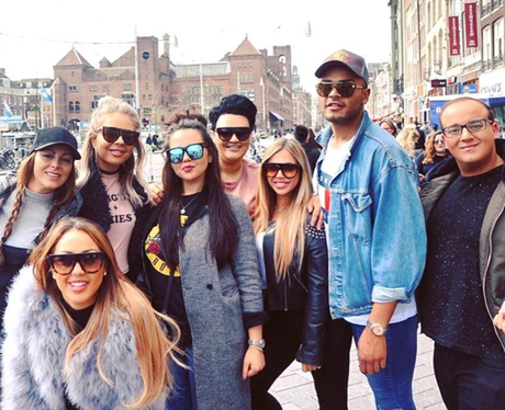 Geordie Shore group in Amsterdam