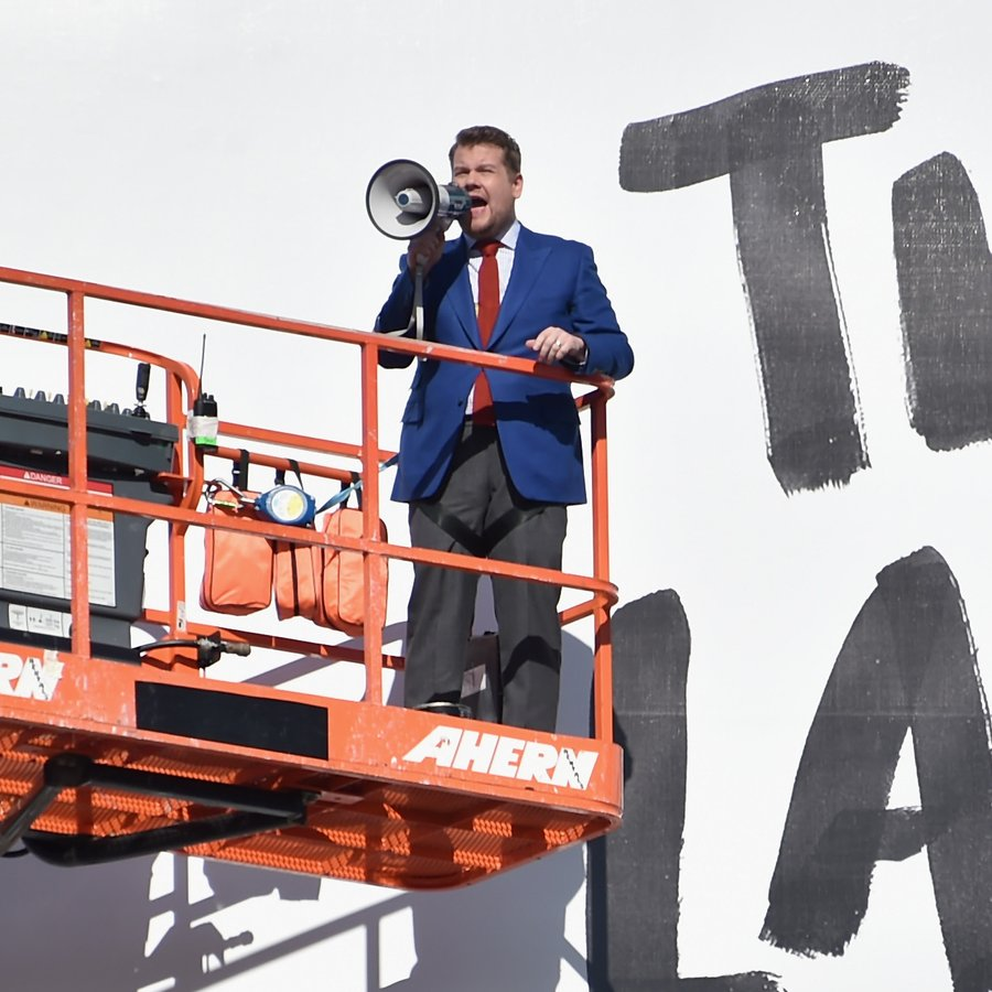 James Corden Puts Up His Own Billboard For CBS Television Network's 'The Late Late Show'
