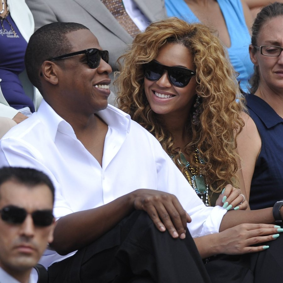 Beyoncé and Jay Z watch Rafael Nadal