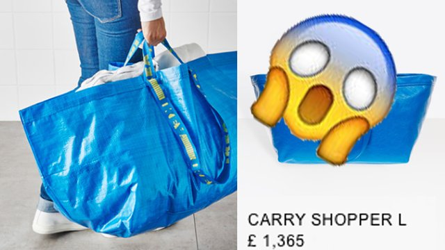 84da9a70db IKEA Just Responded To Balenciaga s £1300 Version Of Their Blue Bag In The  BEST Way