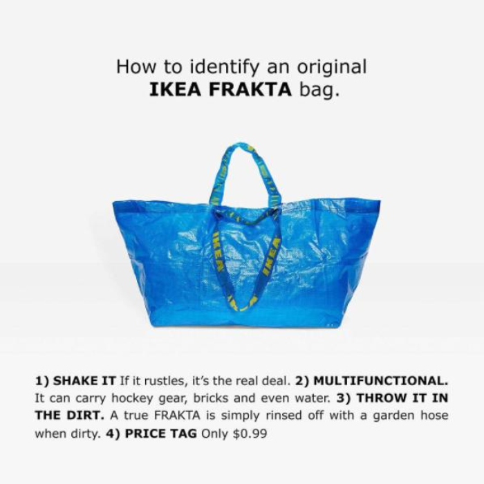 IKEA Just Responded To Balenciaga's £1300 Version Of Their