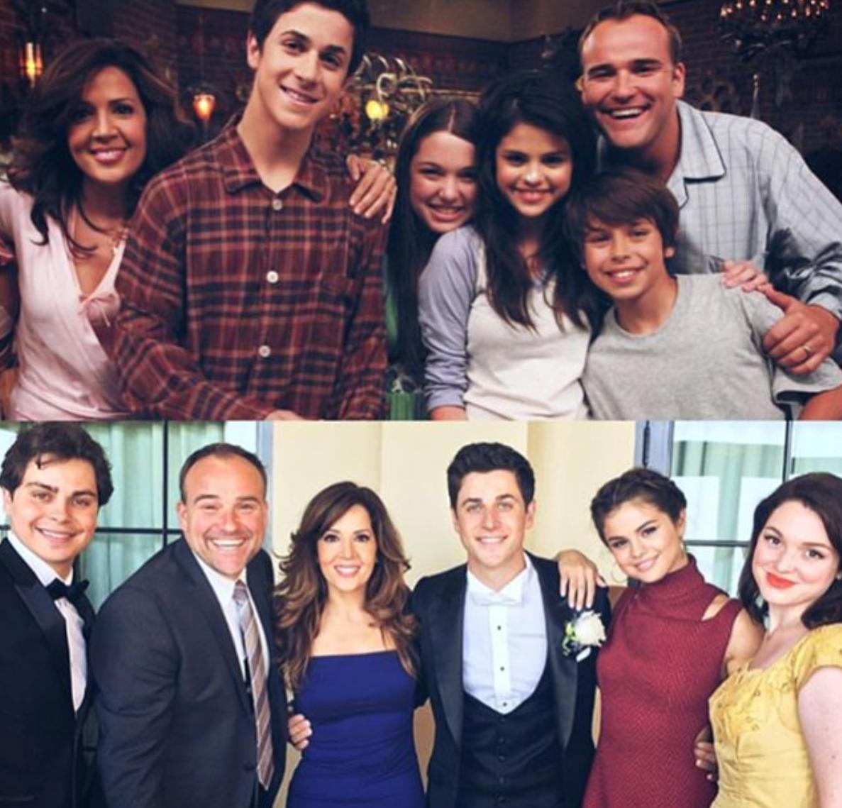 Selena Gomez and the cast of Wizards of Waverly Pl
