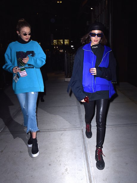 Gigi and Bella Hadid head for night out