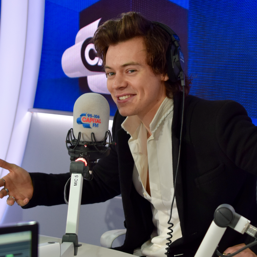 Harry Styles with Capital Breakfast with Roman Kem