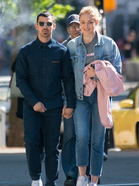 Sophie Turner and Joe Jonas walk hand in hand