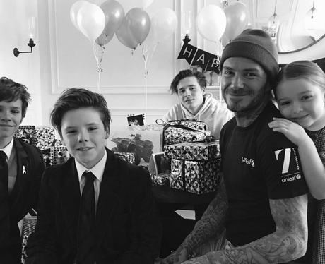 The Beckhams celebrate David Beckham's birthday