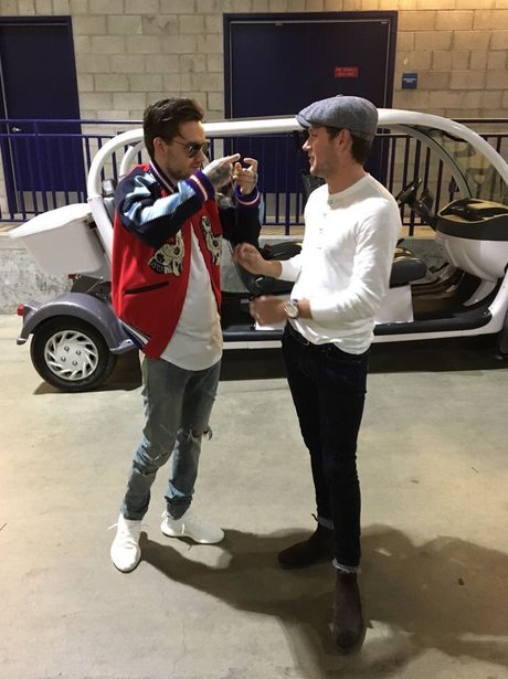 Liam Payne and Niall Horan hang out at Wango Tango