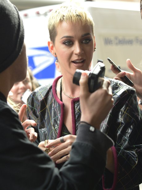 Katy Perry spends time with fans in support of Man