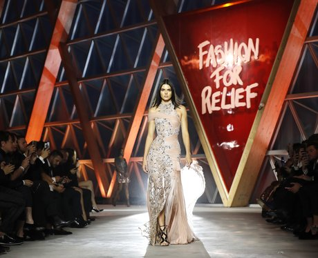 Kendall Jenner walks in the Fashion For Relief