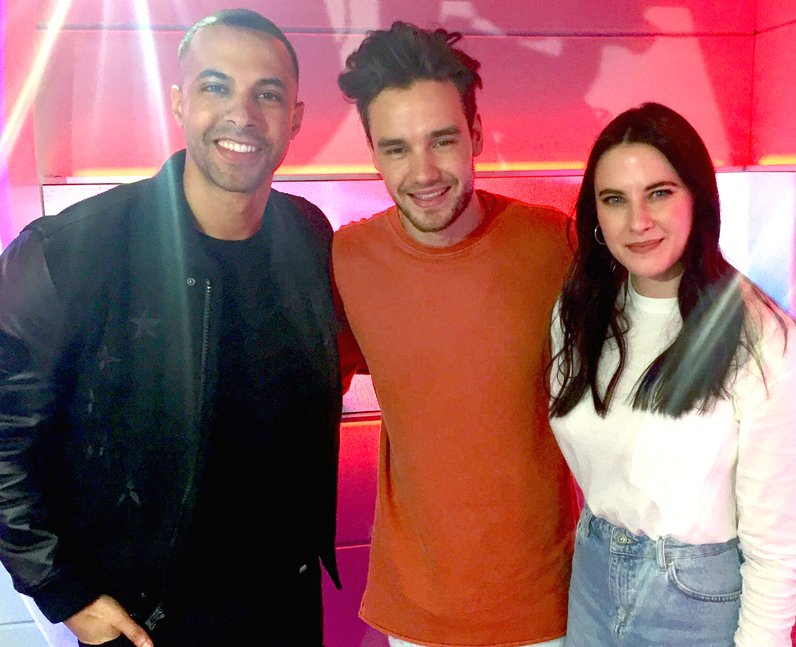 Liam Payne with Marvin Humes & Kat Shoob