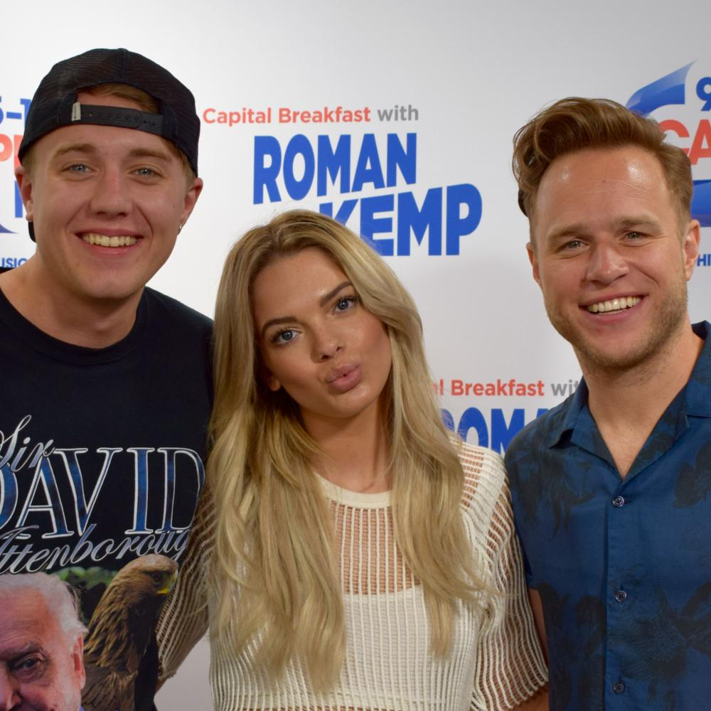 Roman Kemp with Louisa Johnson and Olly Murs