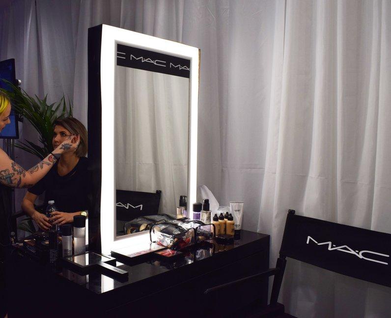 Aimee Vivien MAC backstage make-up