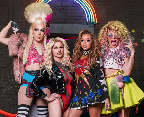 Behind the scenes photos from Little Mix's Power v