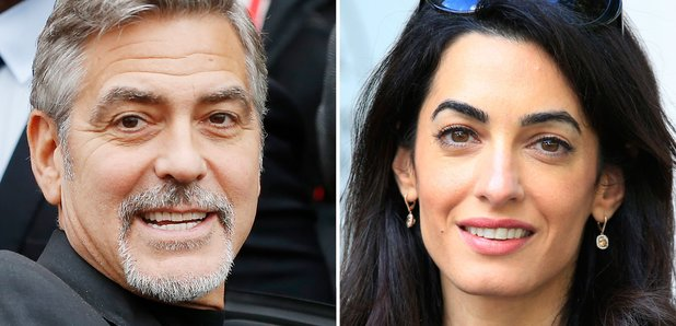 George and Amal Clooney get award for human rights work