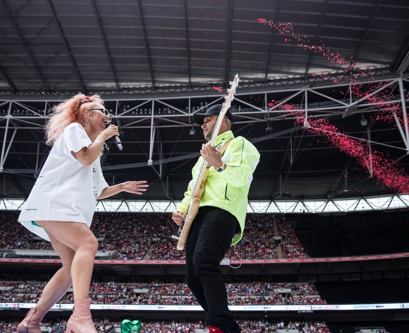 Jax Jones and Raye at the Summertime Ball 2017