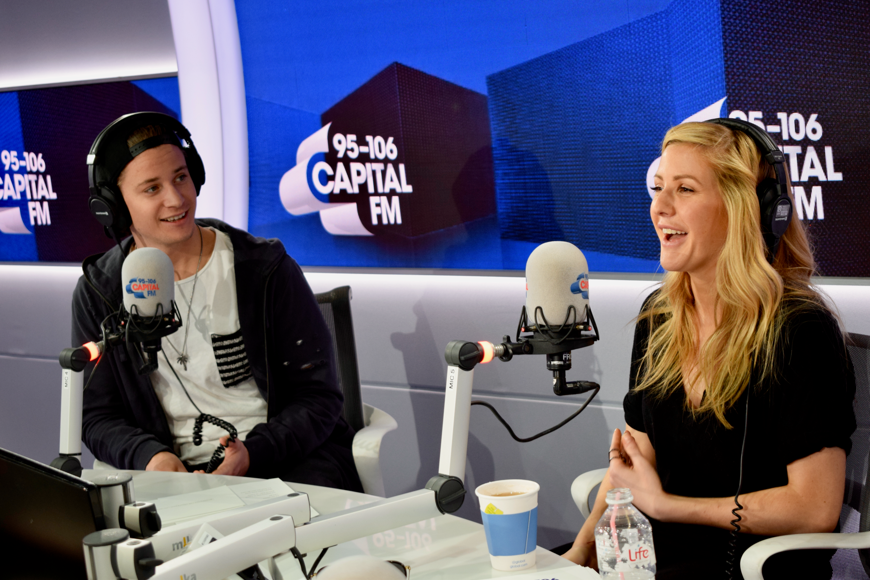 Ellie Goulding and Kygo with Roman Kemp