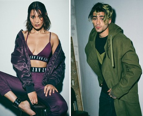 Bella Hadid and Zayn Malik pose for Versace
