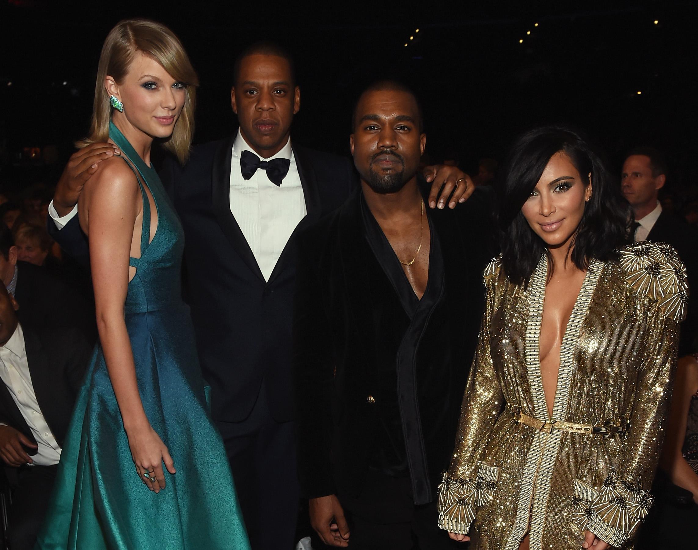 Kanye West, Jay Z, Taylor Swift & Kim Kardashian