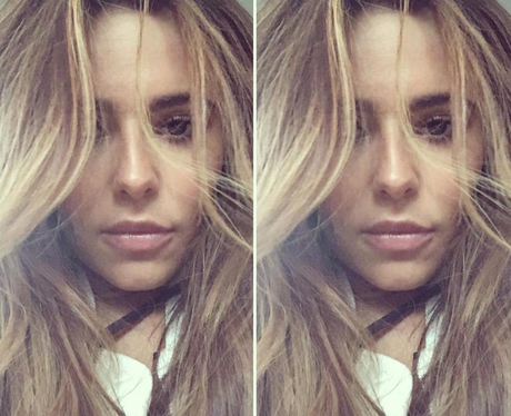 Cheryl shows off her new blonde hairstyle