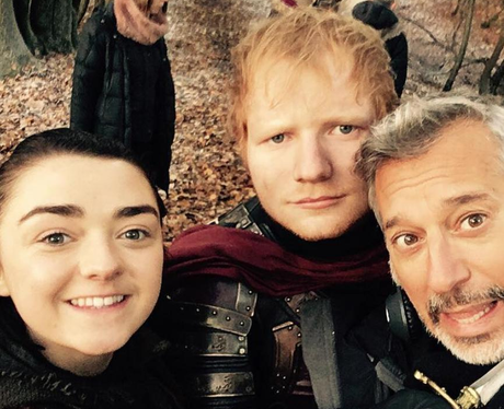 Ed Sheeran on set of Game of Thrones