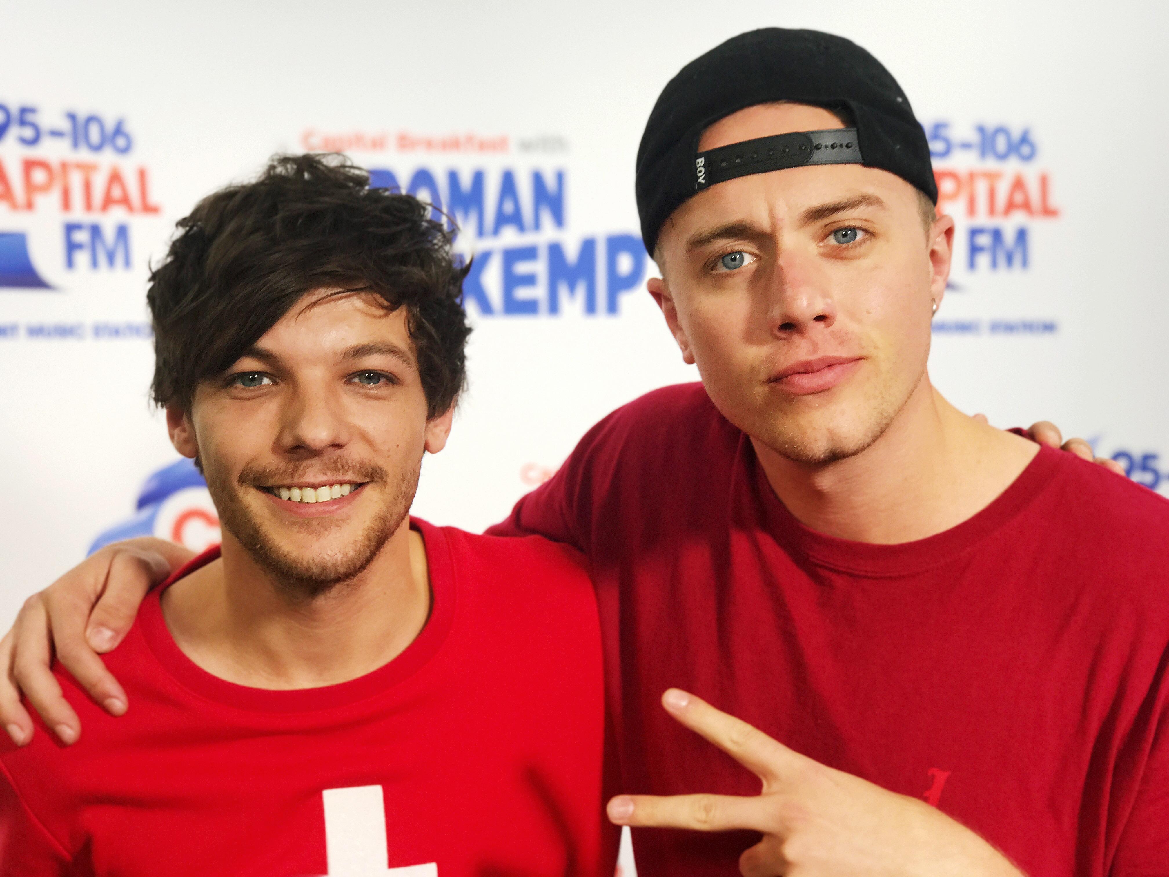 Louis Tomlinson With Roman Kemp