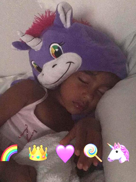 North West looks adorable in Kim's Snapchat