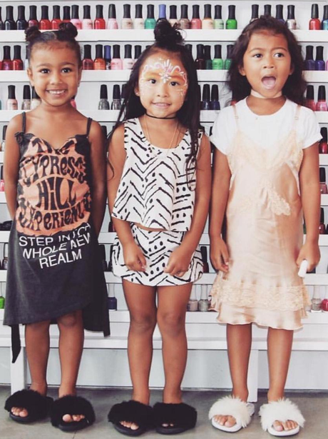 North West goes to a nail polish party