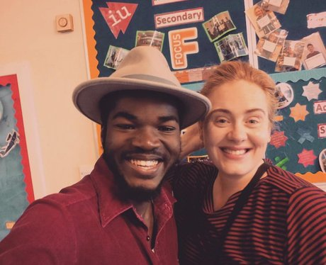 Adele visits young people effected by Grenfell