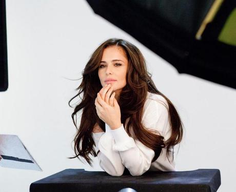 Cheryl on set of L'Oreal
