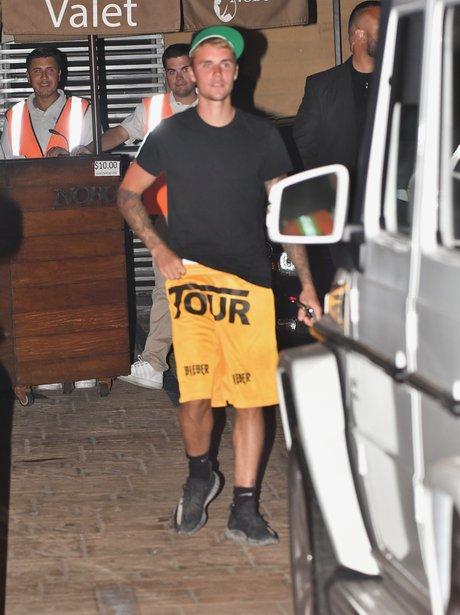 Justin Bieber wears Tour merch