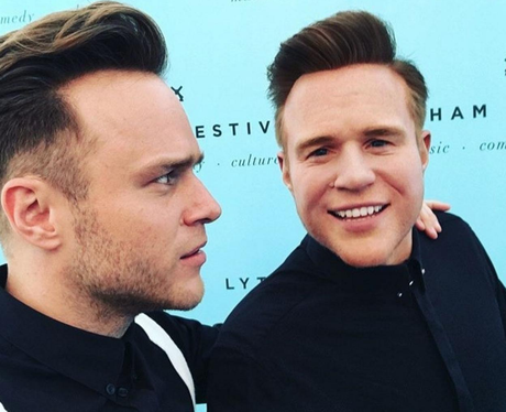 Olly Murs with his wax work