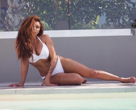 Jesy Nelson shows off her impressive bikini body o