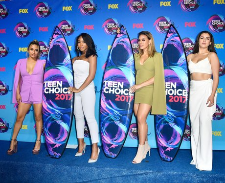 Fifth Harmony accept their Teen Choice Awards in s