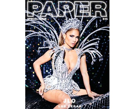 J.Lo on the cover of Paper Magazine
